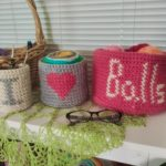 crochet basket pattern set plain